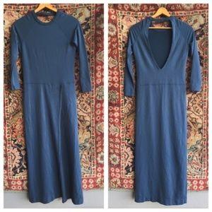 Anthropologie Dresses - AnthroSkin Worldwide Open Back Slit Maxi Dress